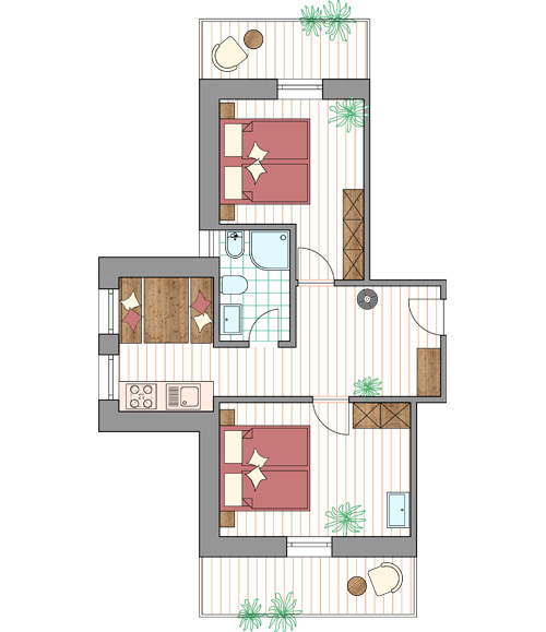 Room Plan Apartment Arlara