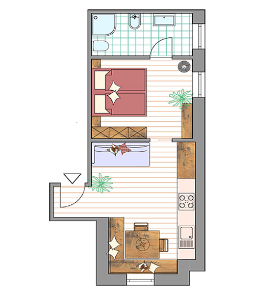 Room Plan Apartment Plaza